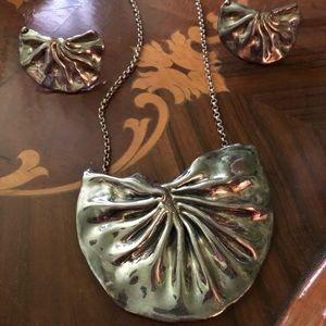 Bat Ami Israel design electroform necklace earring